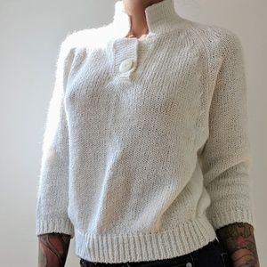 Sweaters - Vintage white fuzzy sweater
